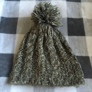 B2G1! Olive Green Winter Hat with Puff